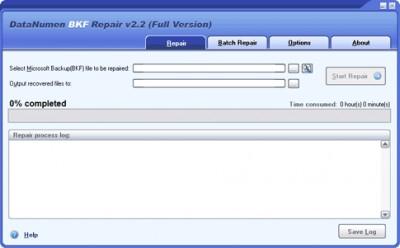 DataNumen BKF Repair 2.2 screenshot