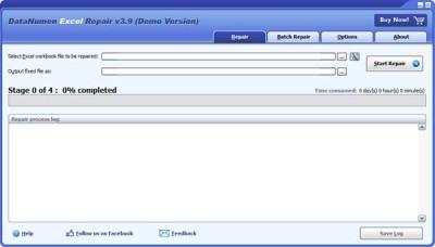 DataNumen Excel Repair 3.6 screenshot