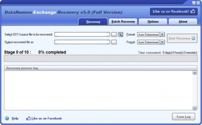 DataNumen Exchange Recovery 6.8 screenshot