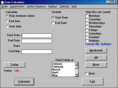 Date Calculator 7.3.0 screenshot