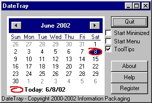 DateTray 1.01 screenshot