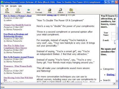 Dating Tips Archive .10 Beta screenshot
