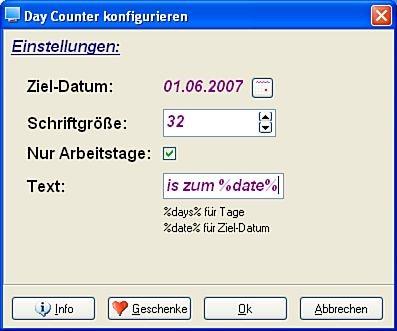 Daycounter 2.2 screenshot
