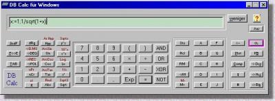 DB Calc for Windows 2.1 screenshot