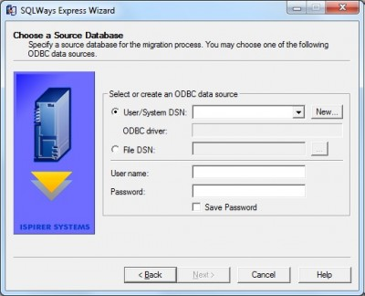 DB2 AS/400 to MS SQL Server Express Ispirer SQLWay 6.0 screenshot