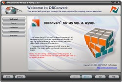 DBConvert for MSSQL & MySQL 2.0 screenshot