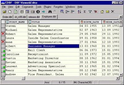 DBF Editor 1.35 screenshot