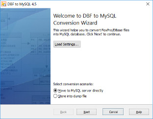 DBF-to-MySQL 4.3 screenshot