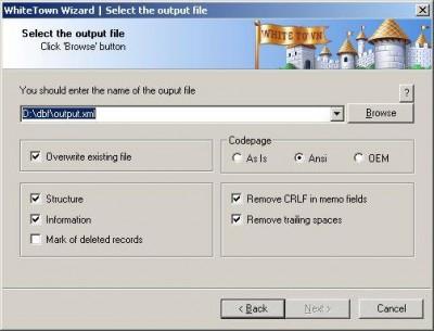 DBF to XML 2.45 screenshot