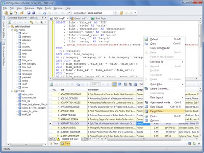 dbForge Query Builder for MySQL 4.1 screenshot