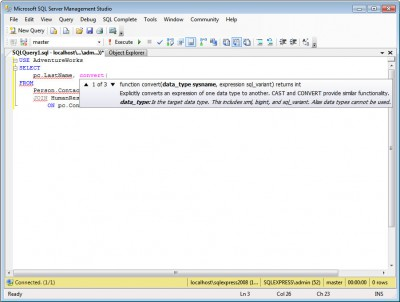 dbForge SQL Complete Express 5.1 screenshot