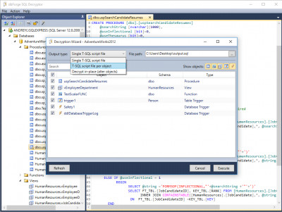 dbForge SQL Decryptor 3.1 screenshot