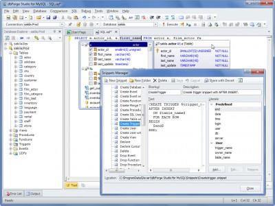 dbForge Studio for MySQL 8.1 screenshot