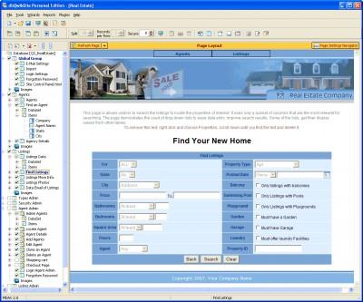 dbQwikSite Developer Edition 6.0.1.1 screenshot