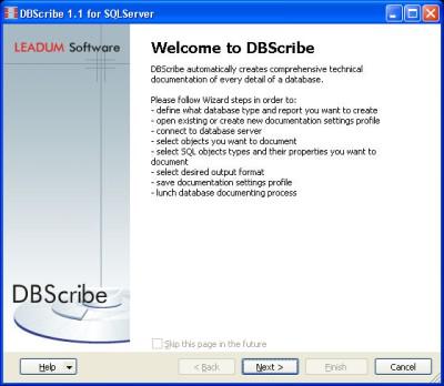 DBScribe for SQL Server 1.4 screenshot