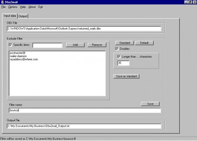 Dbx2mail 2.1 screenshot