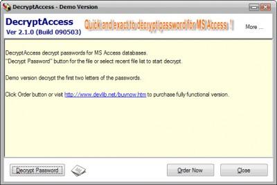 DecryptAccess 2.0.0 screenshot
