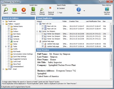 Deduper for Outlook 3.12 screenshot