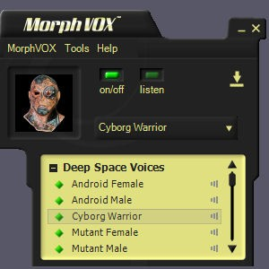Deep Space Voices - MorphVOX Add-on 1.0 screenshot