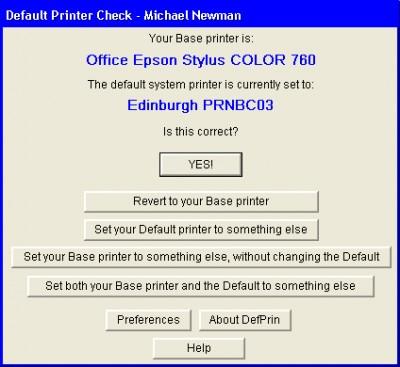 DefPrin 1.96 screenshot