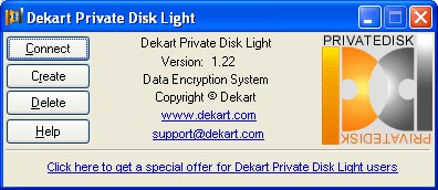Dekart Private Disk Light 1.22 screenshot