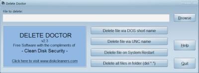 Delete Doctor 2.3 screenshot