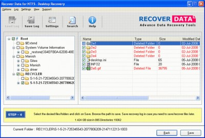 Deleted NTFS Partition Recovery 1.0 screenshot