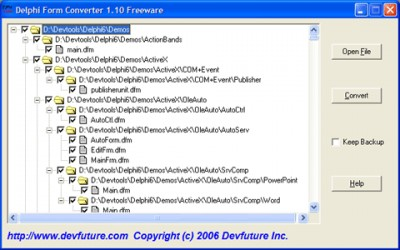 Delphi Form Converter 1.12 screenshot