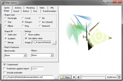 Delphi SWF SDK 3.0.1 screenshot