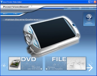 deset Pocket Video Maker - Pocket PC 2.0 screenshot