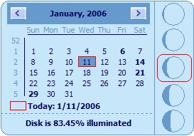Desktop Lunar Calendar 1.69 screenshot