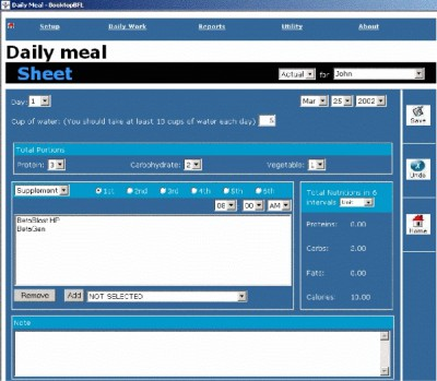 DesktopBFL:The Body for LIFE Companion 1.0 screenshot