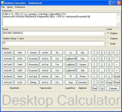 DesktopCalc 2.1.22 screenshot