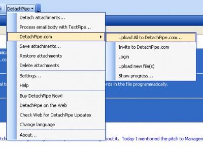 DetachPipe for Outlook 5.8.2 screenshot
