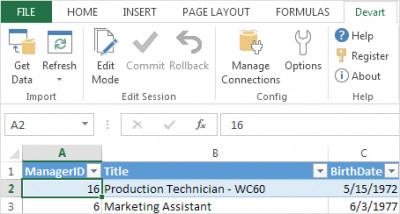 Devart Excel Add-ins 1.8 screenshot