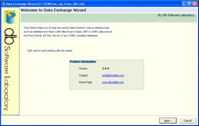 DEWizardX - ETL ActiveX 5.2.2.3 screenshot