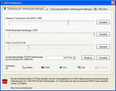 DFÜ-Optimierer 1.40 screenshot