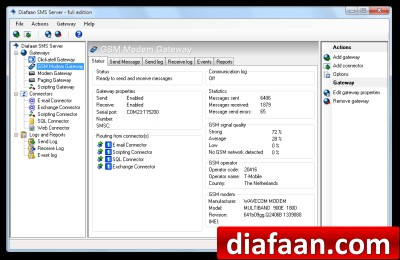 Diafaan SMS Server - full edition 4.0.0.0 screenshot
