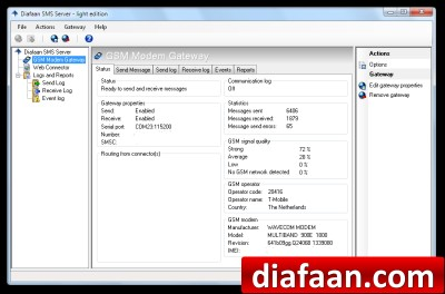Diafaan SMS Server - light edition 4.0.0.0 screenshot