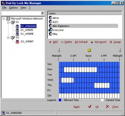 Dial-Up Lock Me 2.1 screenshot