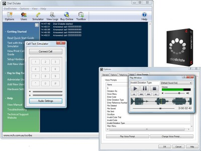 DialDictate Phone Dictation System 4.28 screenshot