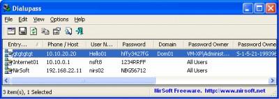 Dialupass 3.61 screenshot
