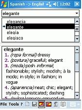 Dictionary Spanish Swedish Spanish CE 3.0 screenshot