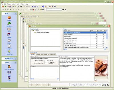 Digital Cookbook, Standard Edition 4.02 screenshot