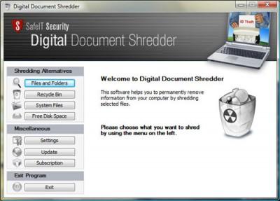 Digital Document Shredder 2011 screenshot