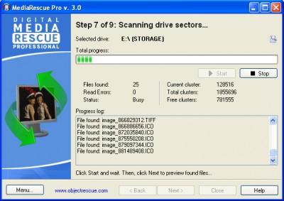 Digital MediaRescue Professional 3.5 screenshot