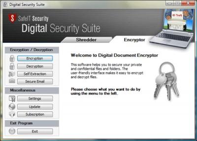 Digital Security Suite 2011 screenshot