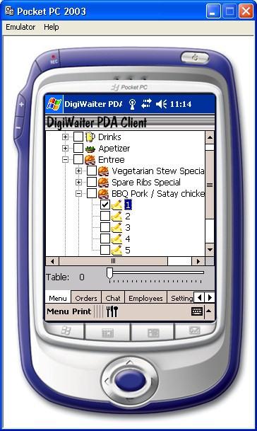 DigiWaiter POS Suite - PDA Client 2.01 screenshot