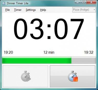 DinnerTimer Lite 1.2.0 screenshot