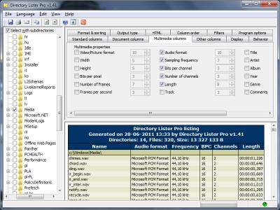 Directory Lister Pro 2.35 screenshot